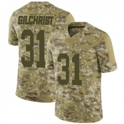 Marcus Gilchrist Oakland Raiders Men's Limited 2018 Salute to Service Nike Jersey - Camo