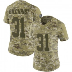 Marcus Gilchrist Oakland Raiders Women's Limited 2018 Salute to Service Nike Jersey - Camo